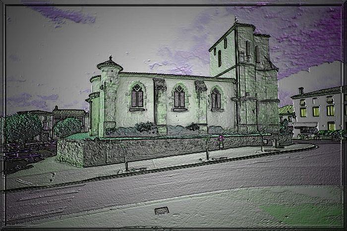 Diaporama église fortifié de Targon