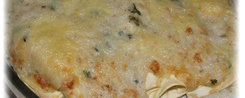 Rouleaux de lasagnes au chou-fleur et gorgonzola