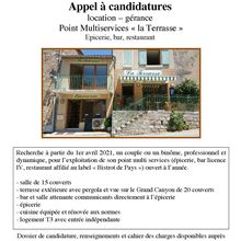 Rougon appel à candidature location – gérance  Point Multiservices « la Terrasse »  Epicerie, bar, restaurant