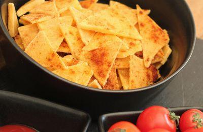 Tortillas chips ou chips à nachos