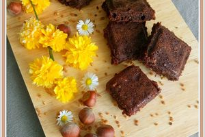 Brownie aux  grains de pralin