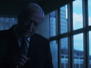 """Did I bring this on her Alfred ?"" ""Exactly Mr. Wayne !"" Note the blue lighting => Cold = world without love."