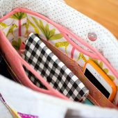 Handy Purse Organizer {free sewing pattern} - SewCanShe | Free Sewing Patterns and Tutorials