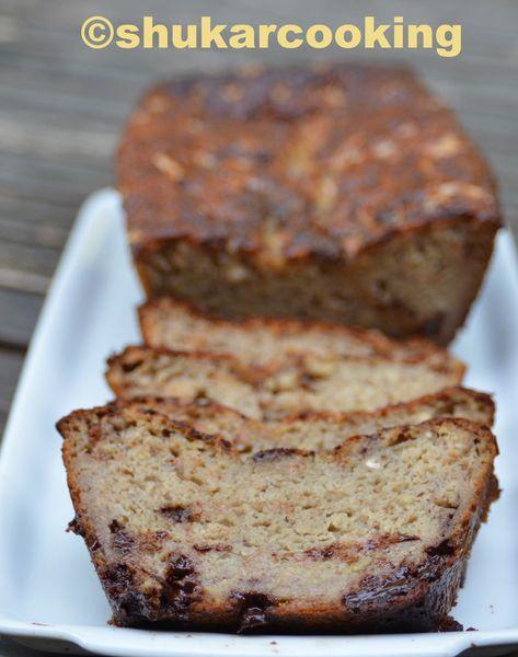 Cake à la banane chocolat sans gluten
