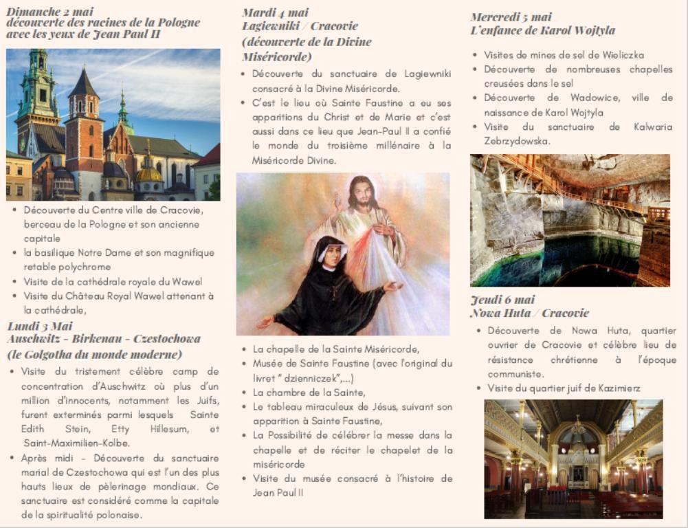 Pèlerinage organisé pour les Paroissiens de Martigues et Port de Bouc du 1er au 8 mai.  Inscriptions : Tel 07 82 57 67 20.
