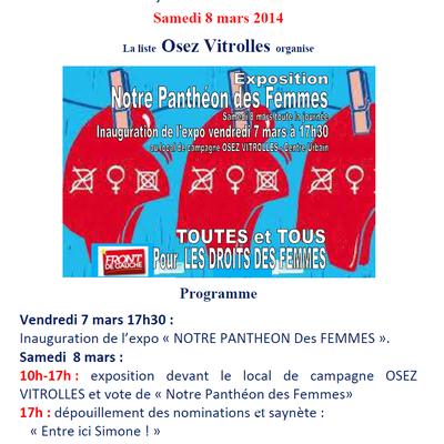 Avec OSEZ Vitrolles et Malik MERSALi, notre Panthéon des Femmes le 8 mars !