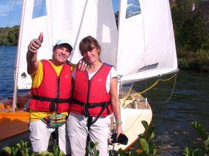 Arno et Claire de l'YCPF gagne la régate