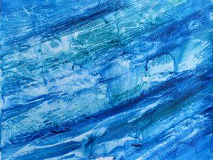 Peinture de Joëlle Dampéront, et sa réinterprétation au trait (Cliquez pour agrandir).