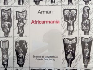 """Arman """"Africamania"""", and Arman with the new realists members."""
