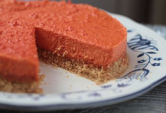 No cheesecake aux poivrons rouges