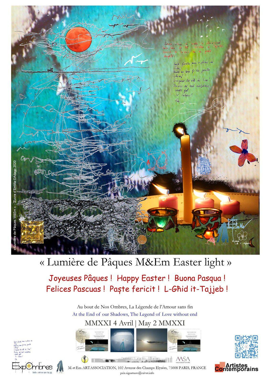 """Lumière de Pâques M&Em Easter light"", œuvre d'EmMa, ©Adagp 2021"