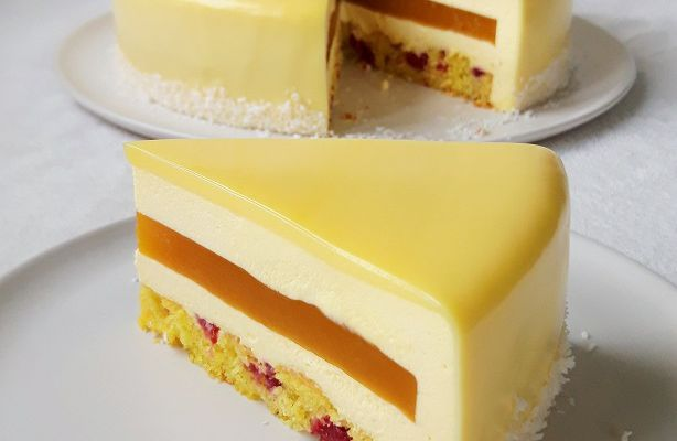Entremets Passion Coco Framboise