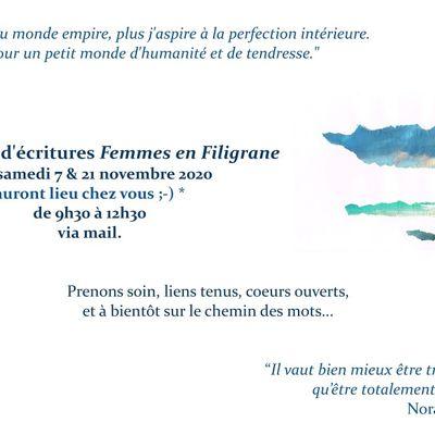 """Femmes en Filigrane"" en ligne - Saison 2 - Novembre 2020"