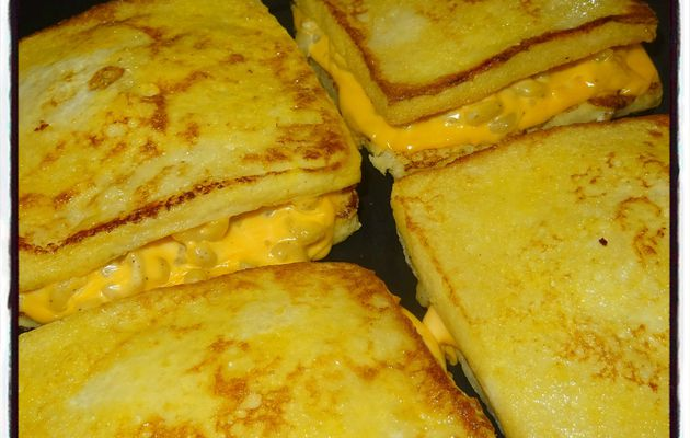 Pain perdu coquillettes cheddar