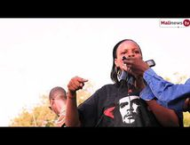 Malinews - Amina Fofana au meeting pour le départ de la France du Mali (2vidéos)