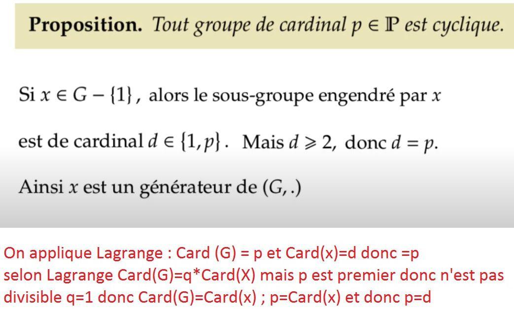 POST BAC - Théorème de Lagrange