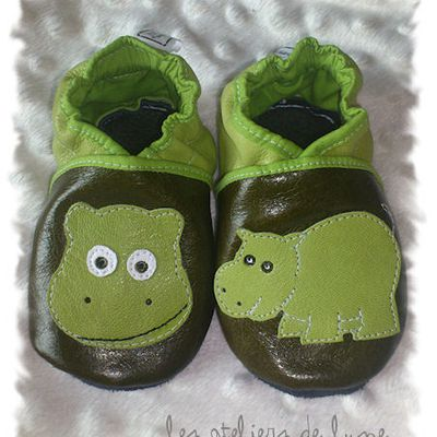 """chaussons """"les Hippos"""""""