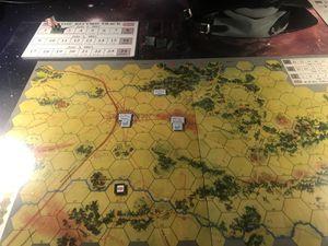 Le sudiste est agressif mais la chance est contre lui et le Nordiste manœuvre bien.