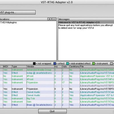 Fxpansion VST to RATS adapter 2 et Pro Tools 9
