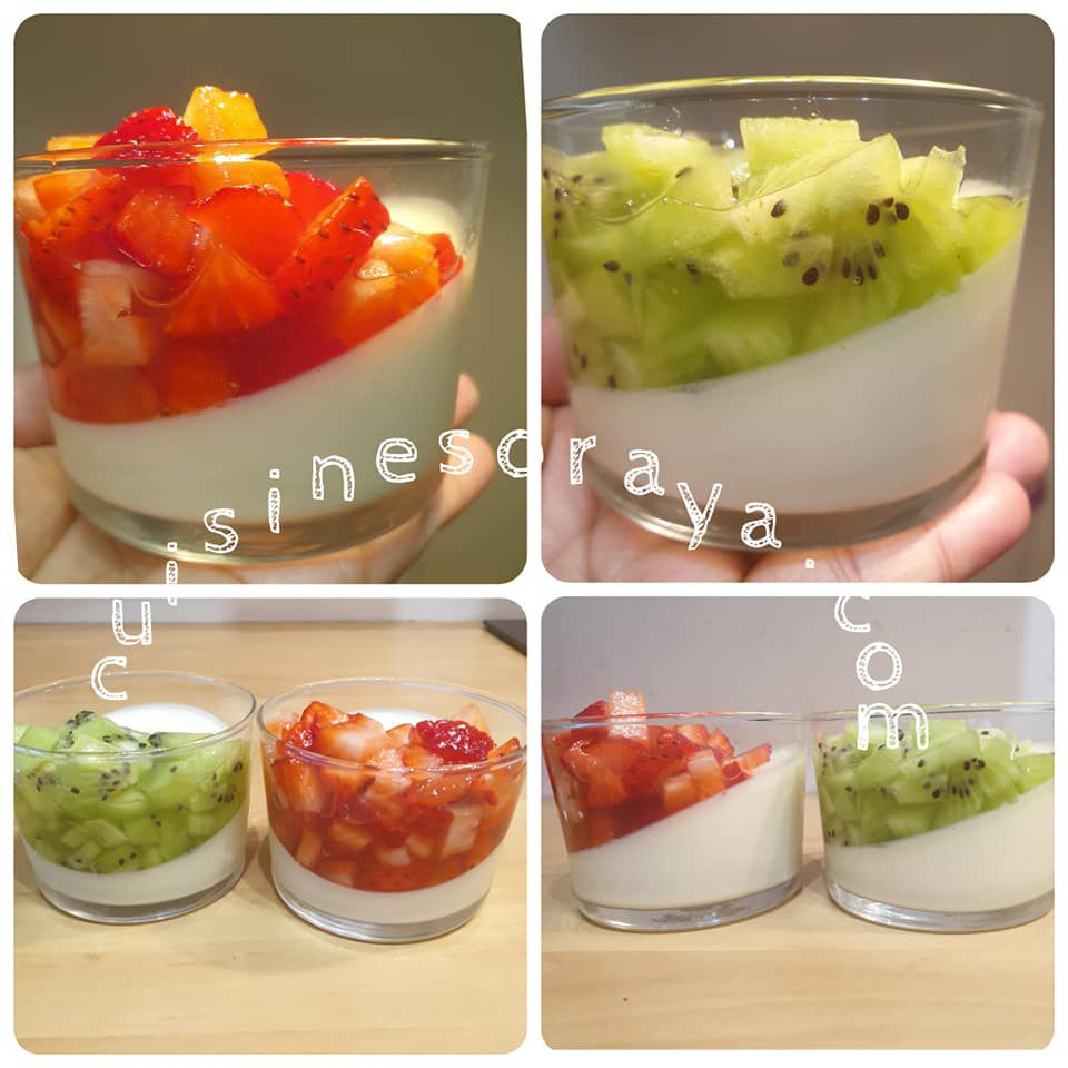 Panna cotta aux fruits