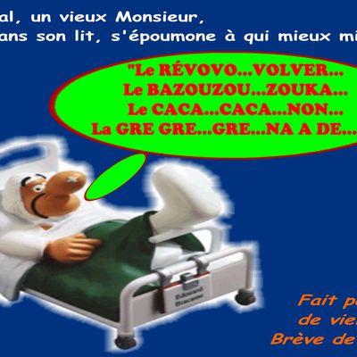 Un Vieux Monsieur à l'Hôpital..., plein d'humour...!