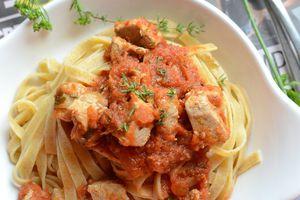 Tagliatelle sauce tomates thon frais