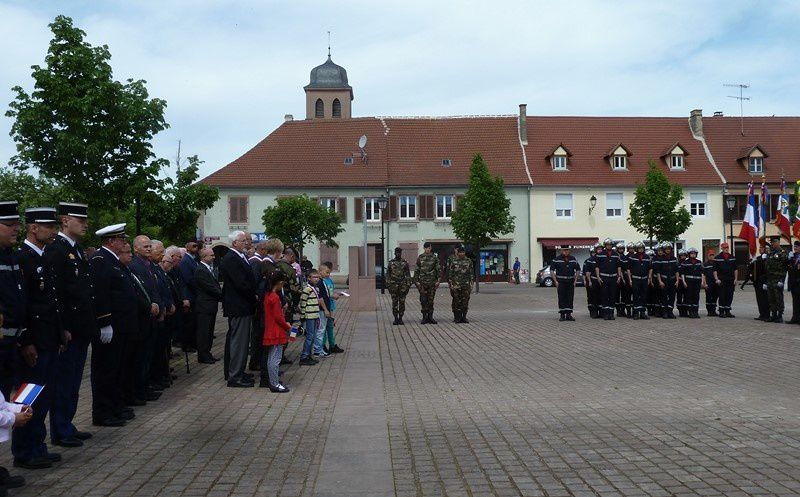 Cérémonie 8 mai 2015 à Neuf-Brisach