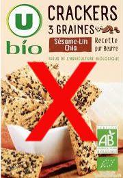 Crackers 3 graines sésame-lin-chia U bio