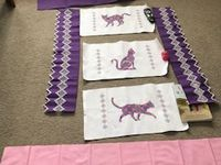 les chats broderie