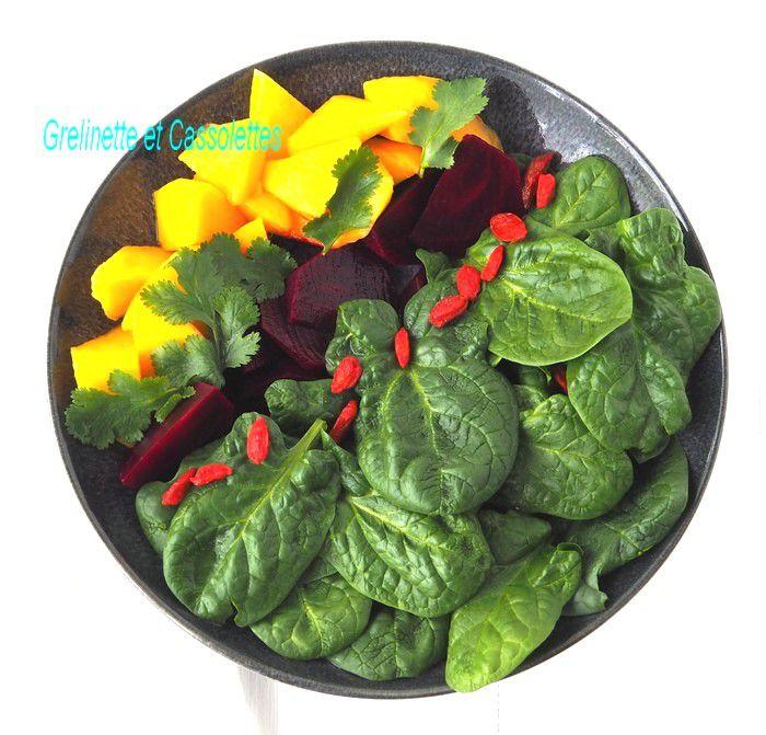 Pousses d'Epinards en Salade