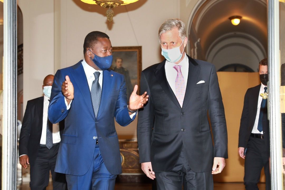 Visite à Bruxelles du Chef de l'État togolais : entretien avec le Roi des Belges, Sa Majesté Philippe, et avec le Président du Conseil européen, Charles Michel