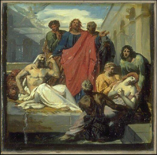 Jésus guérissant les malades, Auvray Félix, 1800-1833