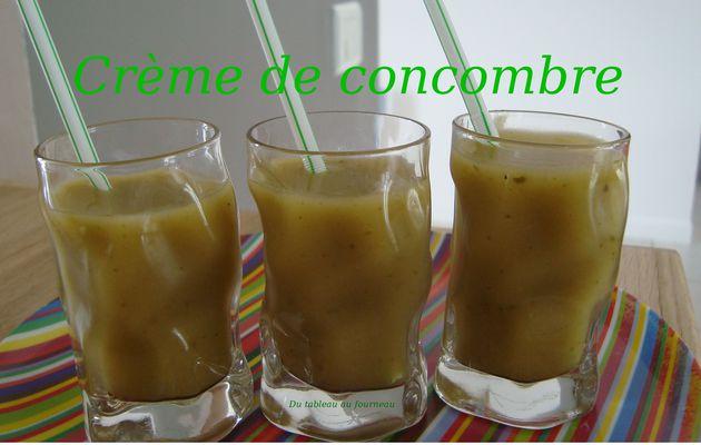 Crème de concombre