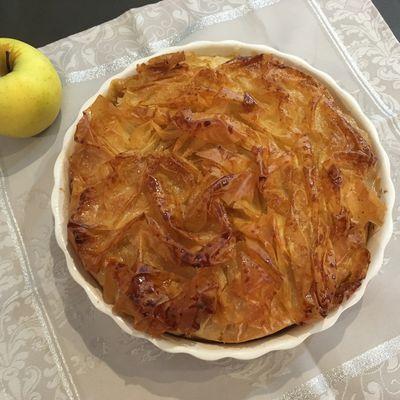Croustade aux pommes (ou Pastis Gascon)