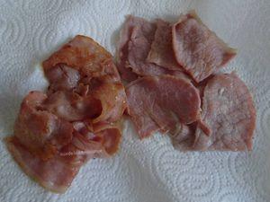 Mille-feuilles de pommes de terre au lard, bacon et chèvre