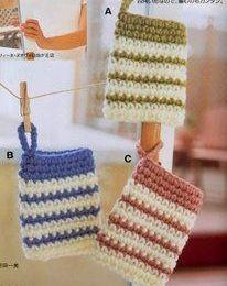 Maniques colorées et leurs grilles gratuites , au crochet !