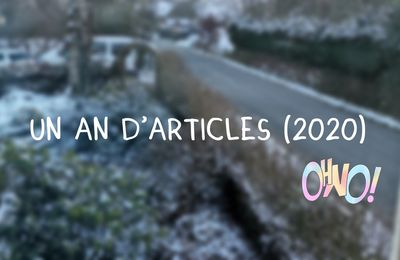 un an d'articles en 2020.