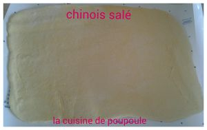 Chinois salé au thermomix ou kitchenaid