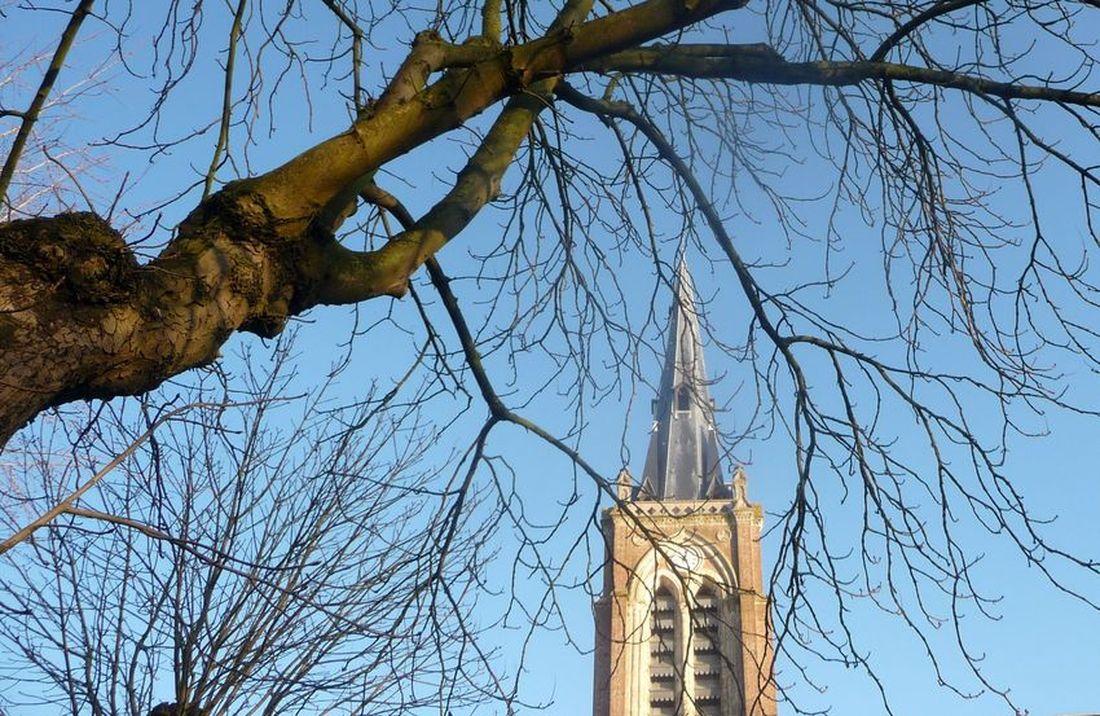 Clocher Eglise Saint Hilaire Halluin - Janvier 2021.