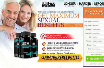 Testo Drive 365 Male Enhancement Review(Canada) : Price & Where to Buy