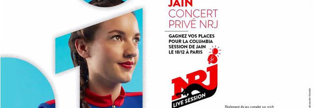 Jain en concert privé le 18 décembre avec NRJ sur la Péniche Le Flow à Paris