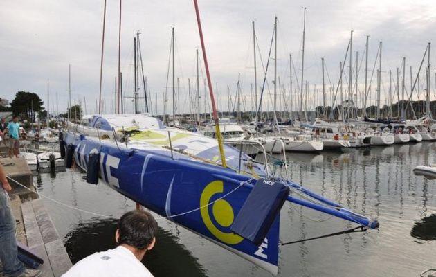 Vendée Globe 2012 - Macif vient d'être mis à l'eau