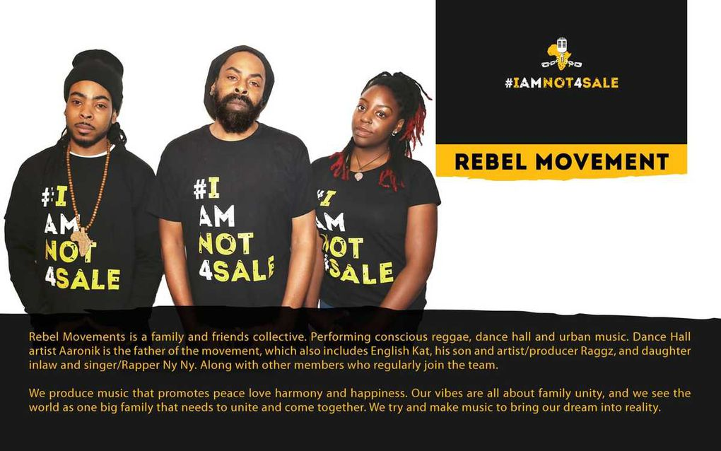 Leading artists behind #iamnot4sale