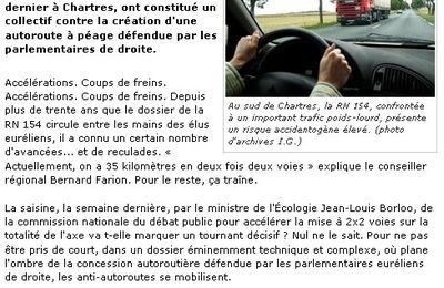 Mobilisation, au tour de Chartres ...