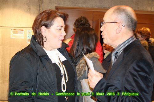 Archives Départementales De la Dordogne, album photos et Vidéo de la conférence portraits de harkis du 1er mars au 27 mai 2016 à périgueux ( 24)