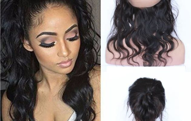 Lace frontal 360 pose