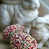 Paper Craft for Easter - Quilled Paper Easter Eggs
