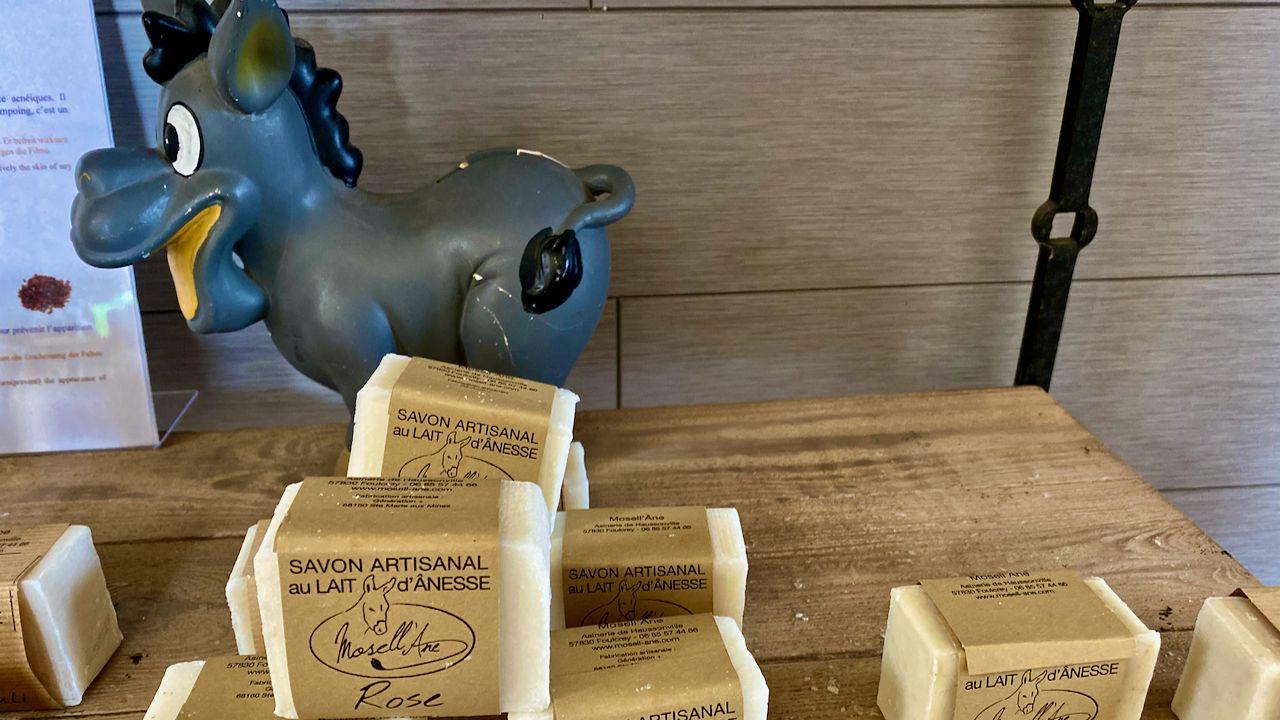 """Je vous emmène découvrir: Le Tuyé Papy Gaby Gilley (25) Mosell'Âne """"Assister à la fabrication artisanale du savon au lait d'ânesse"""" Foulcrey (57)Gites Robin'son Foulcrey (57)"""