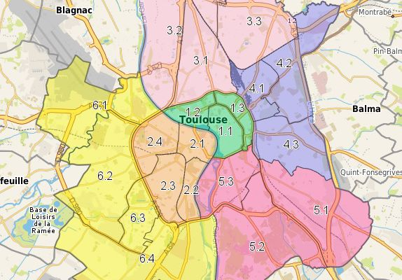 Si Toulouse disposait d'arrondissements ?