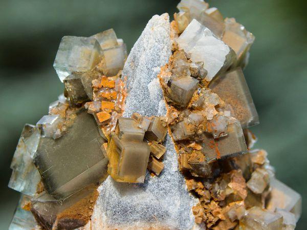 Fluorite (Fluorine) from Xianghuapu Mine, Linwu, Chenzhou, Hunan, China (size: Small cabinet)